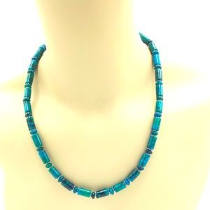 """Creations Turquoise Necklace 19 3/4"""""""